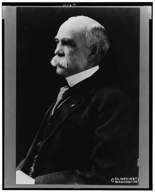 [Robert M. Thompson, half-length portrait, facing left]