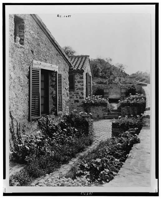"[""Surprise Valley Farm,"" Arthur Curtiss James property, Beacon Hill Road, Newport, Rhode Island. Farmer cottages]"