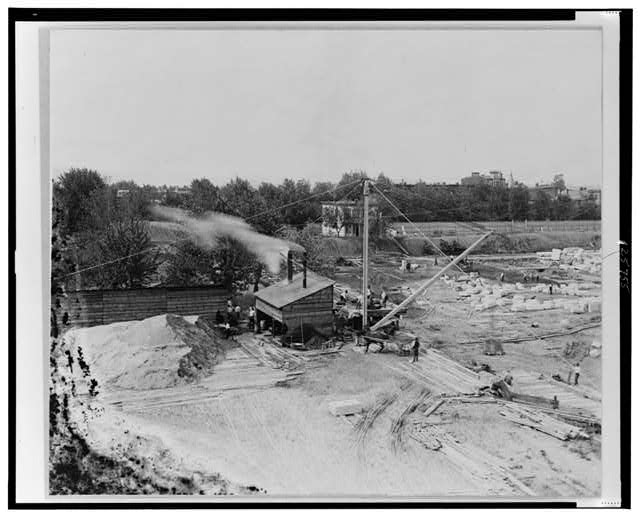 [Laying of the foundation of the Jefferson Building of the Library of Congress, Washington, D.C.]
