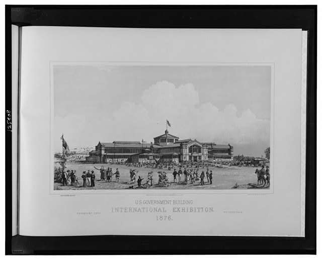 U.S. Government Building, International Exhibition, 1876--Fairmont Park, Philadelphia