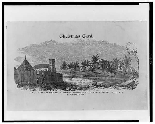 Christmas card--A gift to the members of the Foreign Missionary Box Association of the Protestant Episcopal Church