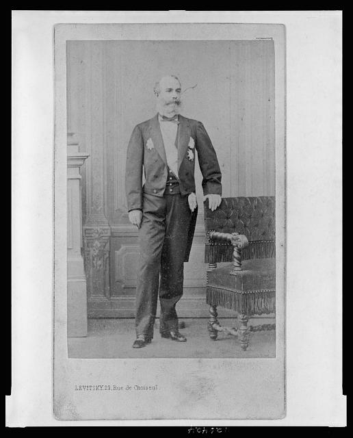 [F.S. Mora, Minister Plenipotentiary for Emperor Maximilian of Mexico, full-length portrait, facing front]