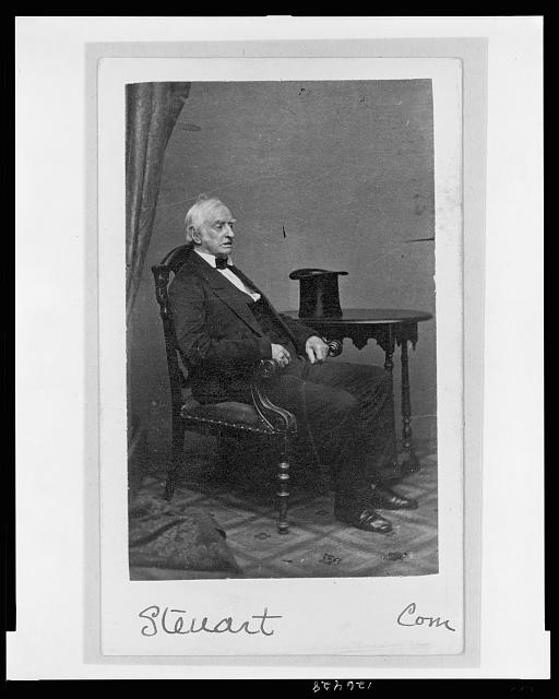 [Dr. Richard Sprigg Steuart, seated, facing right, full-length portrait]