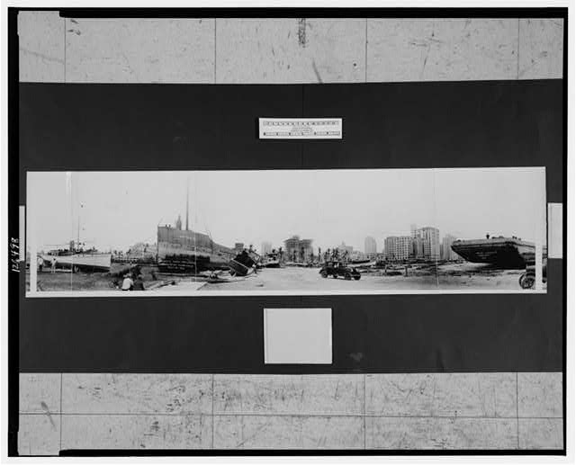 Miami's new drydock, results of hurricane, Sept. 18, 1926