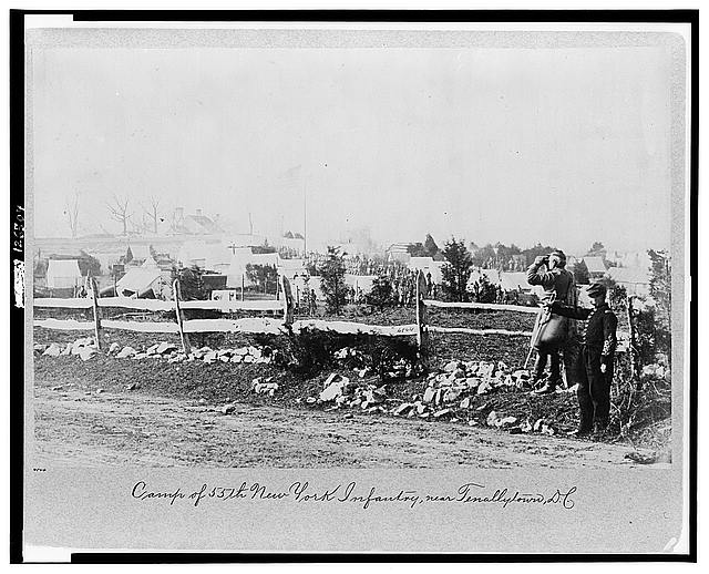 Camp of 55th New York Infantry, near Tenallytown [i.e. Tenleytown], D.C.