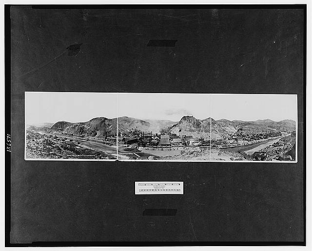 Panorama of South Clifton, Arizona