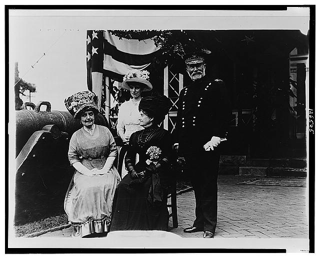[Group portrait of Ida H. Grant, unidentified woman, Julia Dent Grant, and Frederick Dent Grant, son of U.S. Grant, ]