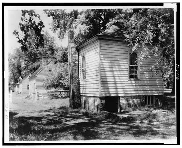 [Residence, cabin, on James River, Tuckahoe Plantation, Goochland County, Virginia]