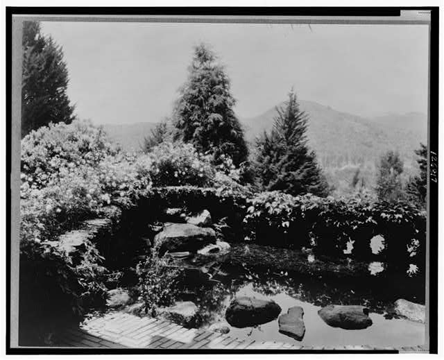 [David Berry Gamble house, 4 Westmoreland Place, Pasadena, California. Water terrace]
