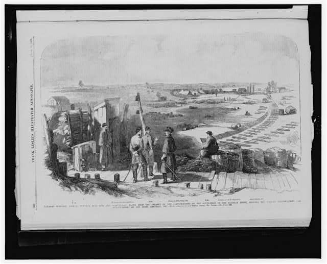 Manassas Junction, looking towards Bull Run and Centreville, [...]