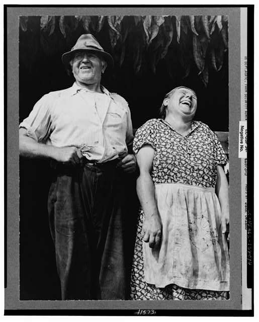 Mr. and Mrs. Andrew Lyman, Polish tobacco farmers near Windsor Locks, Connecticut