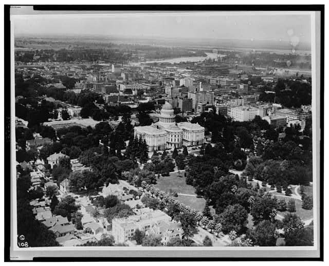 Aerial view of the state capitol