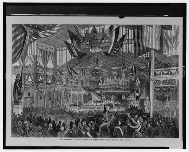 The permanent exhibition, Philadelphia--Opening day