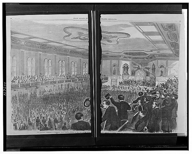 The Democratic convention at Charleston, South Carolina - Interior of the hall of the South Carolina Institute in Meeting Street the [...]