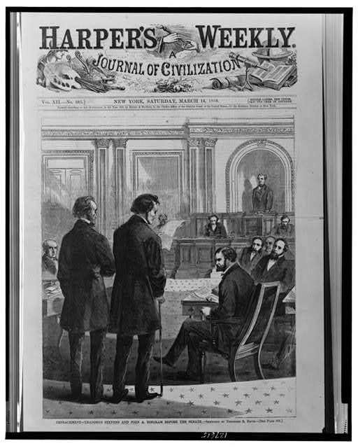Impeachment - Thaddeus Stevens and John A. Bingham before the Senate
