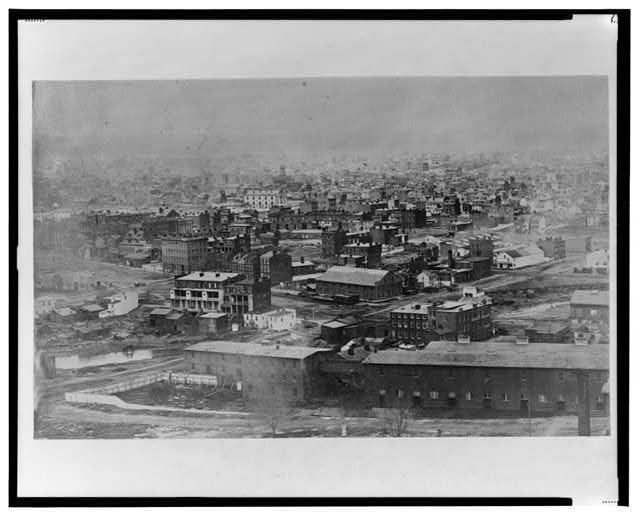[Early photographic view of Washington, D.C. from Capitol Hill, looking northwest]