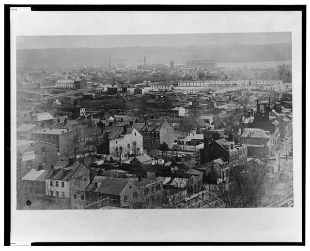 [Early photographic view of Washington, D.C. from the Capitol, looking southeast]