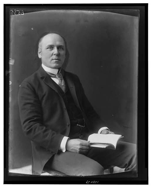 [Howard Pyle, three-quarter length portrait, seated, facing slightly right]