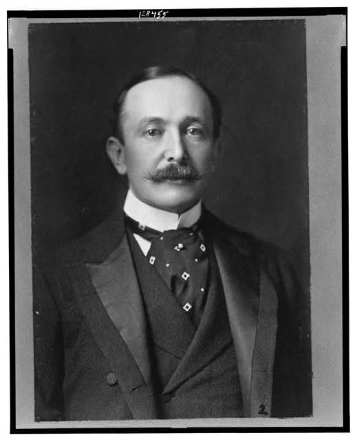 [August Belmont, Jr., head-and-shoulders portrait, facing front]
