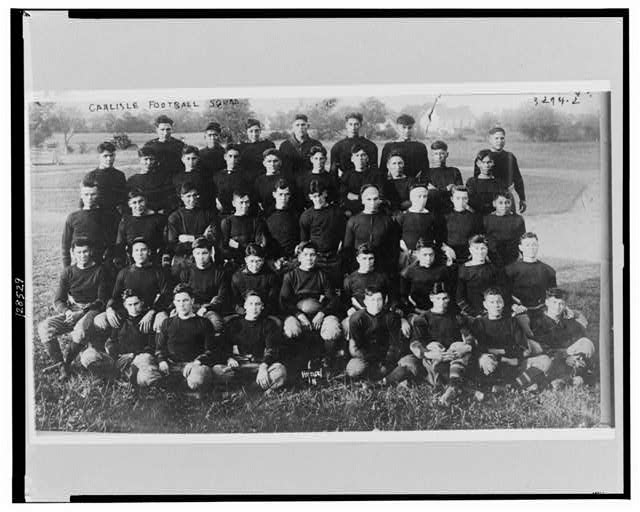 Carlisle School football squad