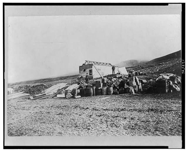 Commander Peary's headquarters in North Greenland, Sept. 1909