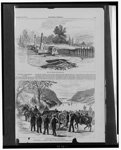 The funeral of General Custer at West Point