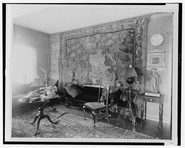 [Living room in St. Gaudens, Windsor, Vermont]