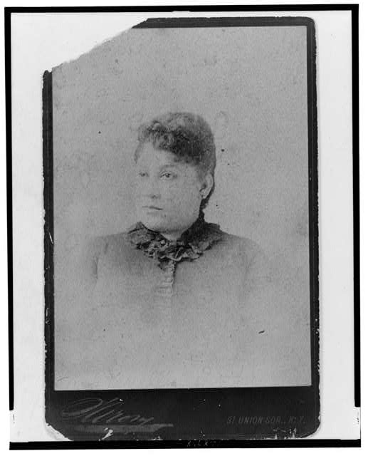 [Unidentified woman, possibly Mary Church Terrell's mother, head-and-shoulders portrait, facing slightly left]