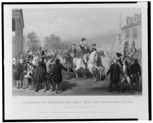 Entrance of the American Army into New York, Nov. 25th 1783