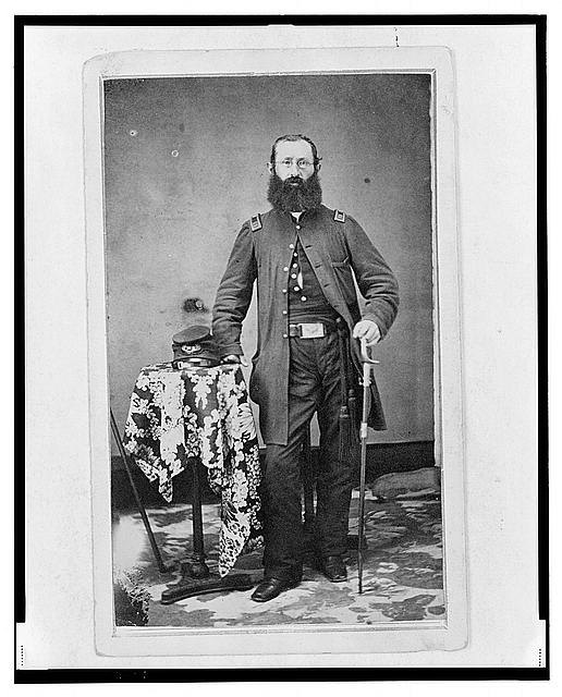 [Chaplain Charles A. Fischer of the 32nd Indiana Regiment, full-length portrait, standing, facing front]