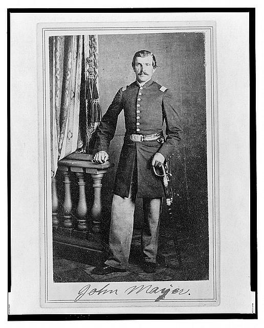 [Lieutenant John Mayer (Meyer), Union officer in the 32nd Indiana Regiment, full-length portrait, standing, facing front]