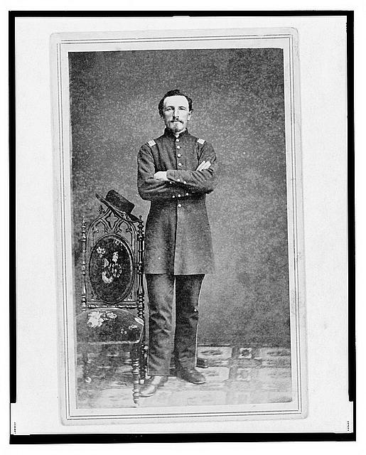 [Captain William Borck, Union officer in the 32nd Indiana Regiment, full-length portrait, standing, facing front]