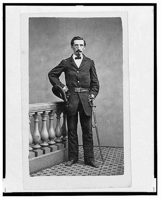 [Lieutenant Francis (or Frank or Franz) L. Weber, Union officer in the 32nd Indiana Regiment, full-length portrait, standing, facing  front]