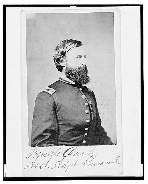 [Assistant Adjunct General Temple Clark, Union officer, half-length portrait, facing right]