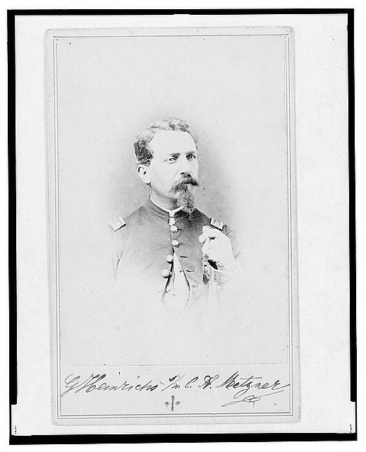 [General Gustav Heinrichs, Union officer, half-length portrait, facing front]