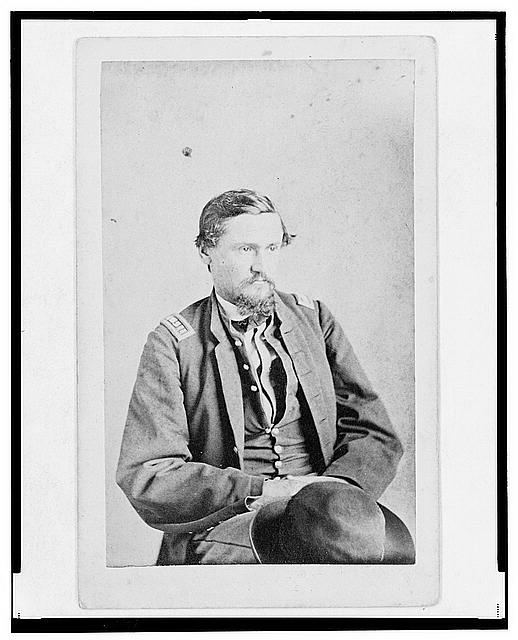 [Dr. Felix Blazer, First Assistant Surgeon in the 32nd Indiana Regiment, half-length portrait, seated, facing front]