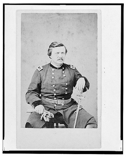 [ Alexander McDowell McCook, Union general, three-quarter length portrait, seated, facing front]
