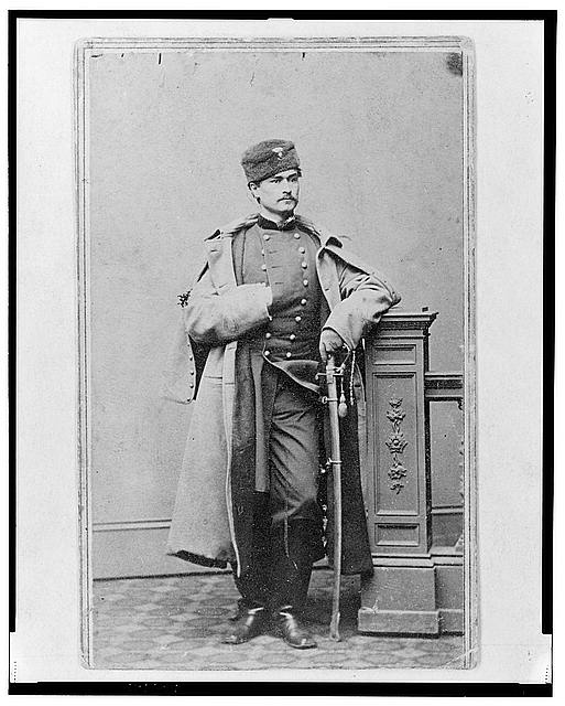 [Captain Hubert Anton Casimir Dilger, Union officer, full-length portrait, standing, facing front]