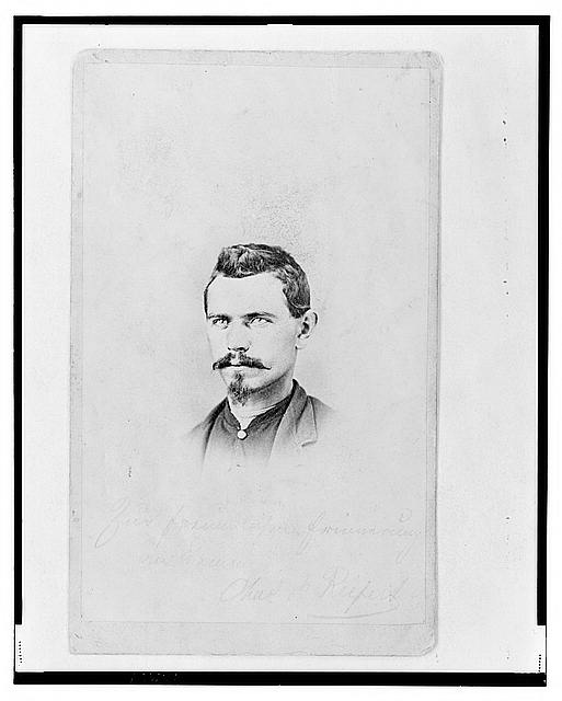 [1st Lieutenant Charles Reifert (Reiffert), Union officer in the 32nd Indiana Regiment, bust portrait, facing front]