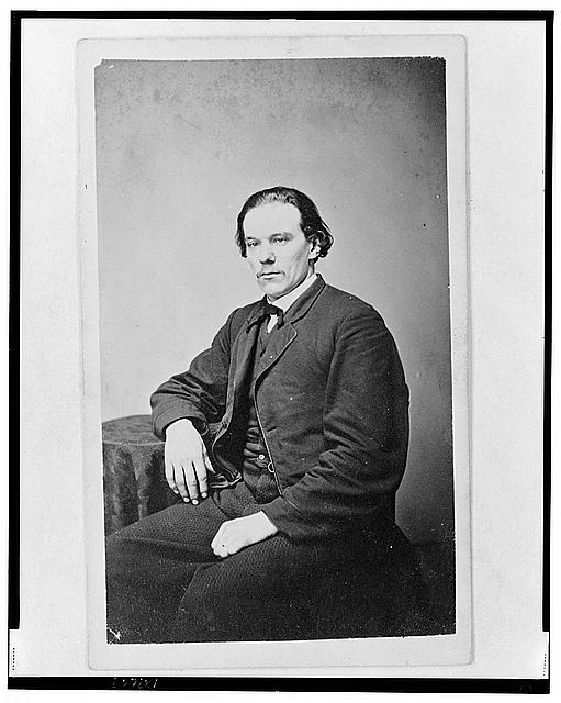 [Aze Klein, three-quarter length portrait, seated, facing slightly left]