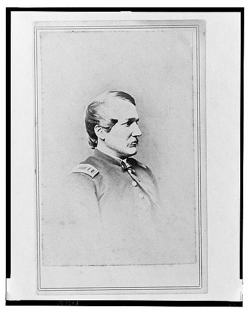 [Unidentified Union officer, head-and-shoulders portrait, facing right]