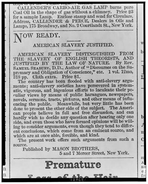 Now ready - American slavery justified