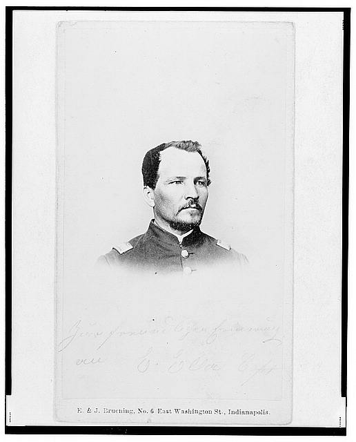 [Captain Emanuel Eller, Union officer in the 32nd Indiana Regiment, head-and-shoulders portrait, facing front]