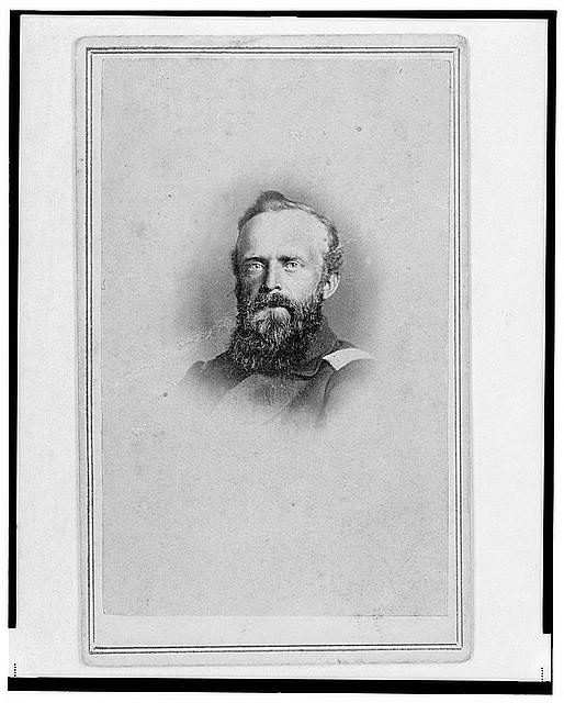[Brigade Commisariat Captain Edward Mueller, Union officer in the 32nd Indiana Regiment, bust portrait, facing front]