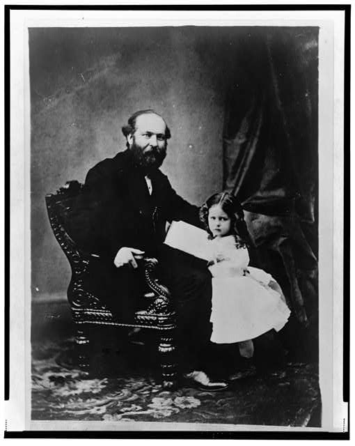 Little Mollie Garfield & her father