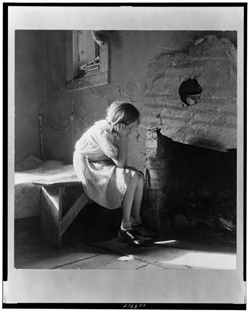 Resettled farm child from Taos Junction to Bosque Farms project. New Mexico