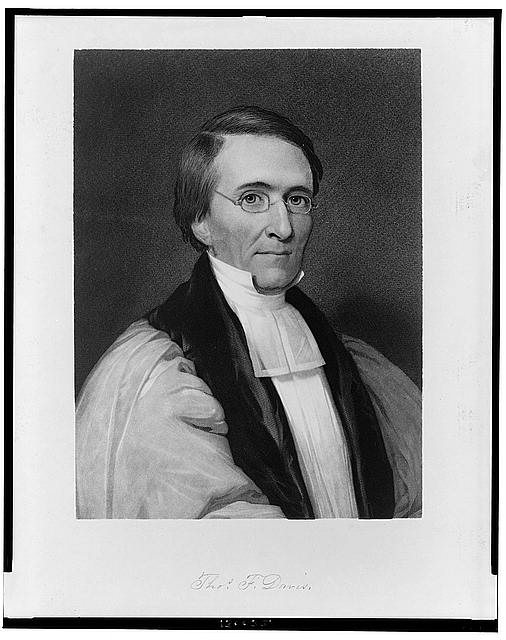 [Thomas F. Davis, head-and-shoulders portrait, facing right]
