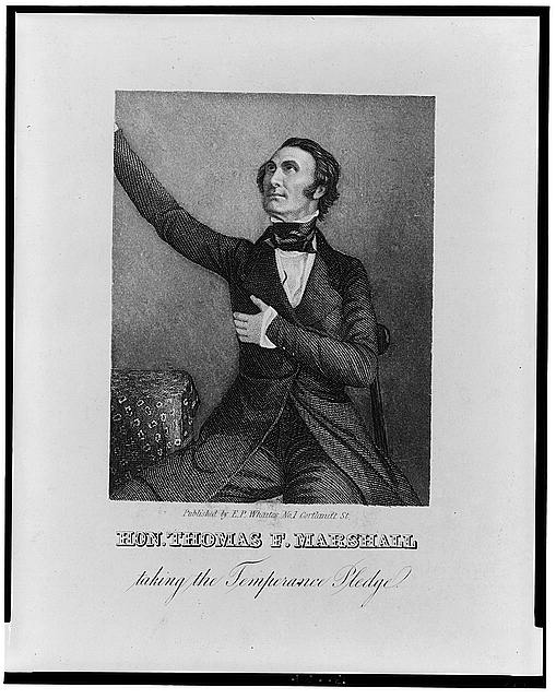 Hon. Thomas F. Marshall taking the temperance pledge
