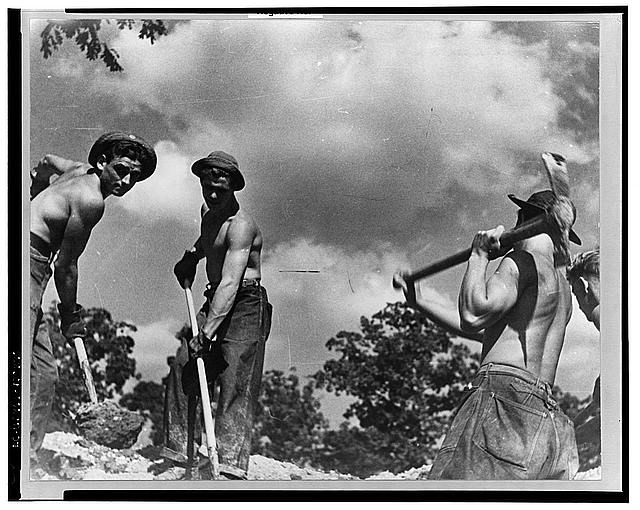 CCC (Civilian Conservation Corps) boys at work, Prince George's County, Maryland