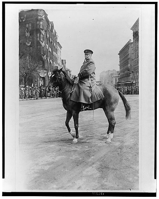 Major General Hugh Lenox Scott on Pennsylvania Avenue, Washington, D.C.